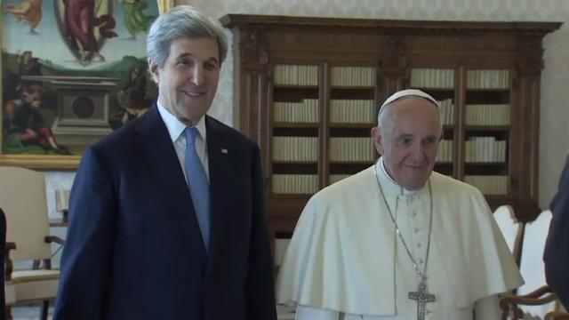 Secretary Kerry meets with Pope Francis
