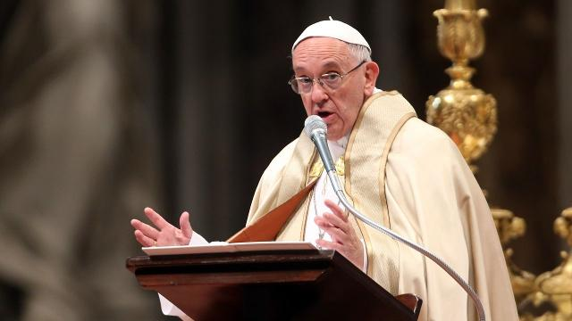 The pope compared spreading sensationalized news stories to eating feces. Video provided by Newsy