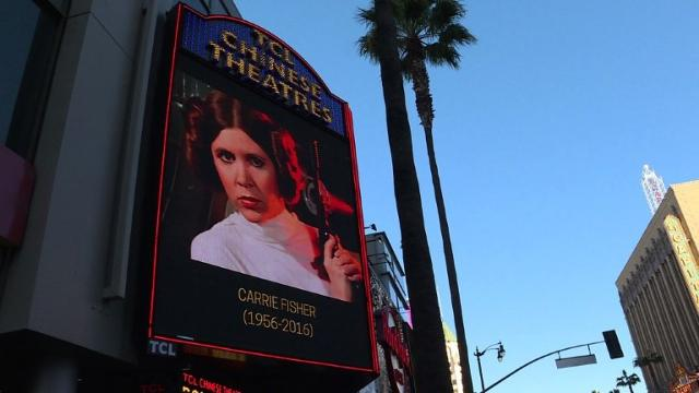 Fans mourn 'Star wars' icon Carrie Fisher