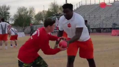 Clemson football's uplifting Special Olympics experience