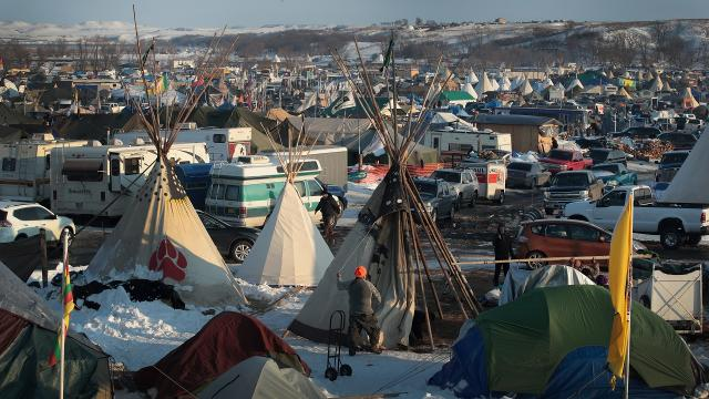 Standing Rock Sioux tribe leader asks activists to go home
