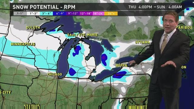 Friday's forecast: Heavy lake effect snows