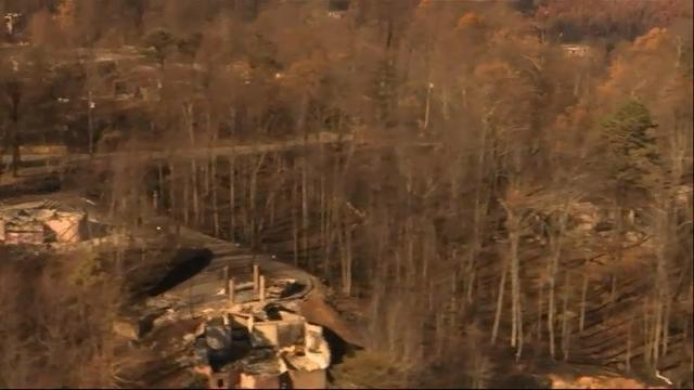 Raw: Aerial Video shows Tennessee homes in ashes