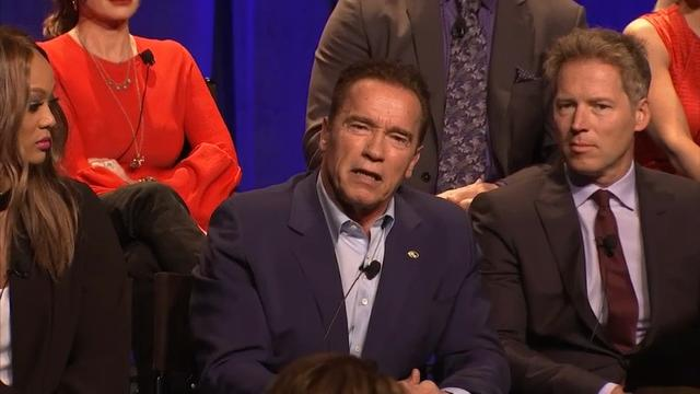 As the man stepping into Trump's shows, Arnold Schwarzenegger reveals he knew Trump was still the Executive Producer on 'Celebrity Apprentice.' (Dec.10)