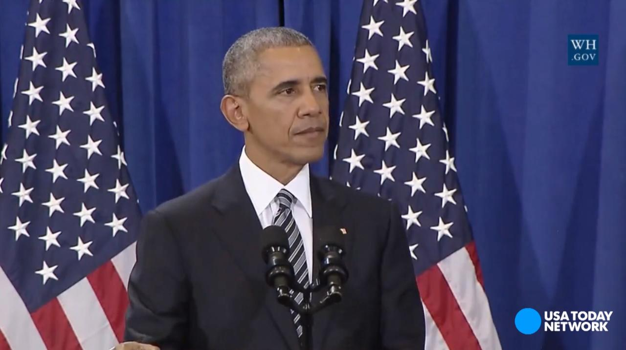 President Obama speaks on counterterrorism at MacDill