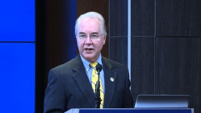Trump's nominee for health secretary Price vows change
