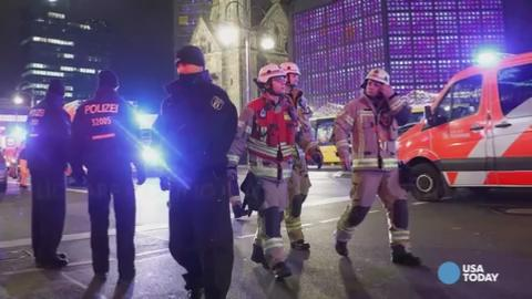 At least a dozen people dead after truck slams into Berlin market