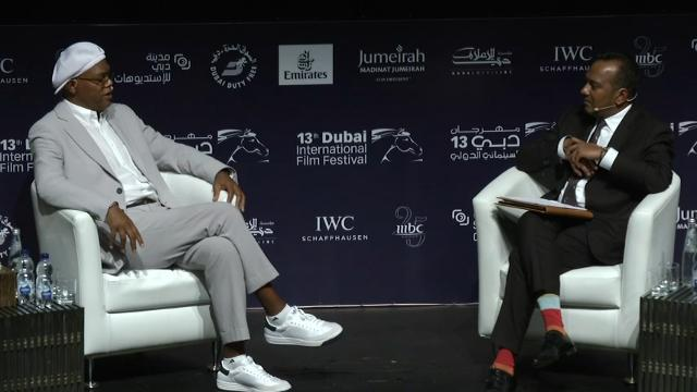 During a visit to Dubai Samuel L. Jackson revealed his thoughts on the treatment of Muslim Americans. (Dec. 10)