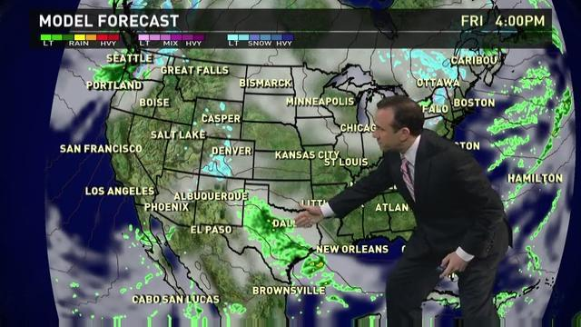 Friday's forecast: Windy California, wet Texas