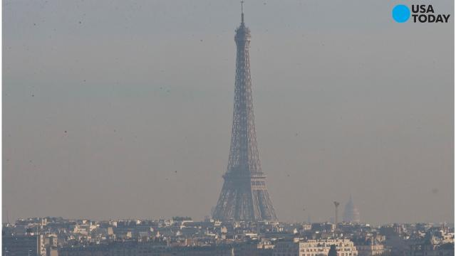 Facing its worst winter pollution in a decade, Paris is sticking to controversial traffic restrictions.  (Dec. 8)