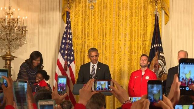 Obama hosts team USA Olympians and Paralympians at White House