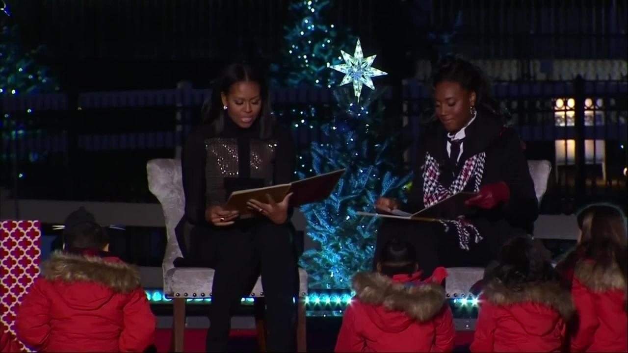 President Obama lights national Christmas tree