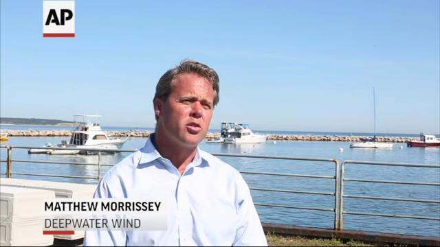 The nation's first offshore wind farm has opened off the coast of Rhode Island, ushering in a new era in the U.S. for the industry. Deepwater Wind built five turbines three miles off Block Island, to power about 17,000 homes. (Dec. 12)