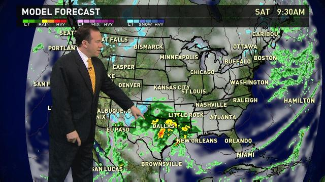 Saturday's forecast: Wet weather from Texas to Mississippi