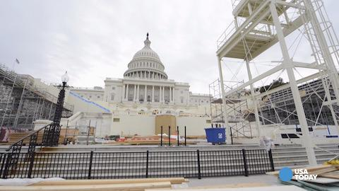 Setting the stage for Donald Trump's inauguration
