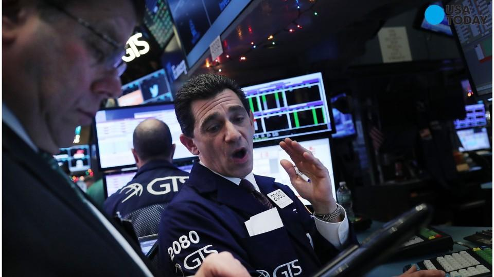 On Tuesday the Dow Jones Industrial Average and the Nasdaq hit record highs, with the blue-chip index just 13 points shy of the 20,000 mark, which it has never before achieved in its history.