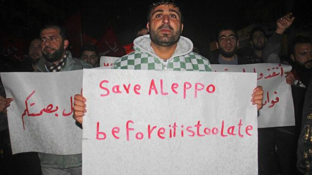 Syrian regime accused of slaughtering civilians as Aleppo nears fall