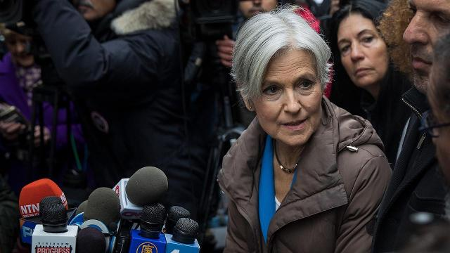 Jill Stein holds recount presser outside Trump Tower