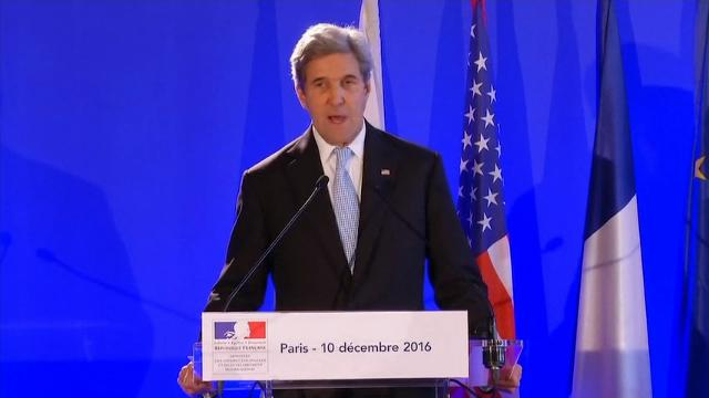 """Secretary of State John Kerry on Saturday told reporters after a meeting of leading diplomats that the Islamic State group, often called """"Daesh,""""  would be defeated. (Dec. 10)"""