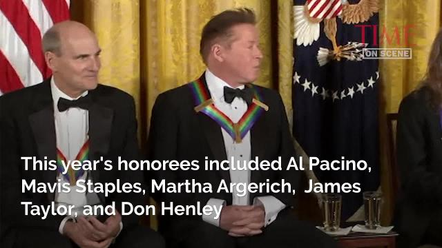 The Obamas were celebrated at their last Kennedy Center Honors