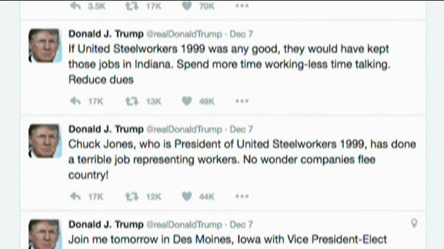 Local union president: Trump Tweets 'amusing'
