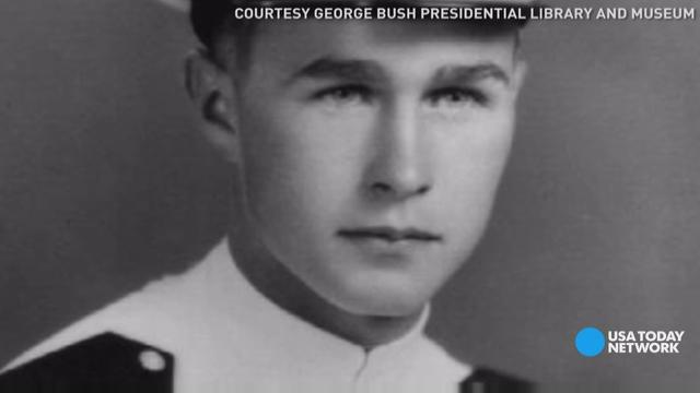 George H. W. Bush's near-death experience during WWII