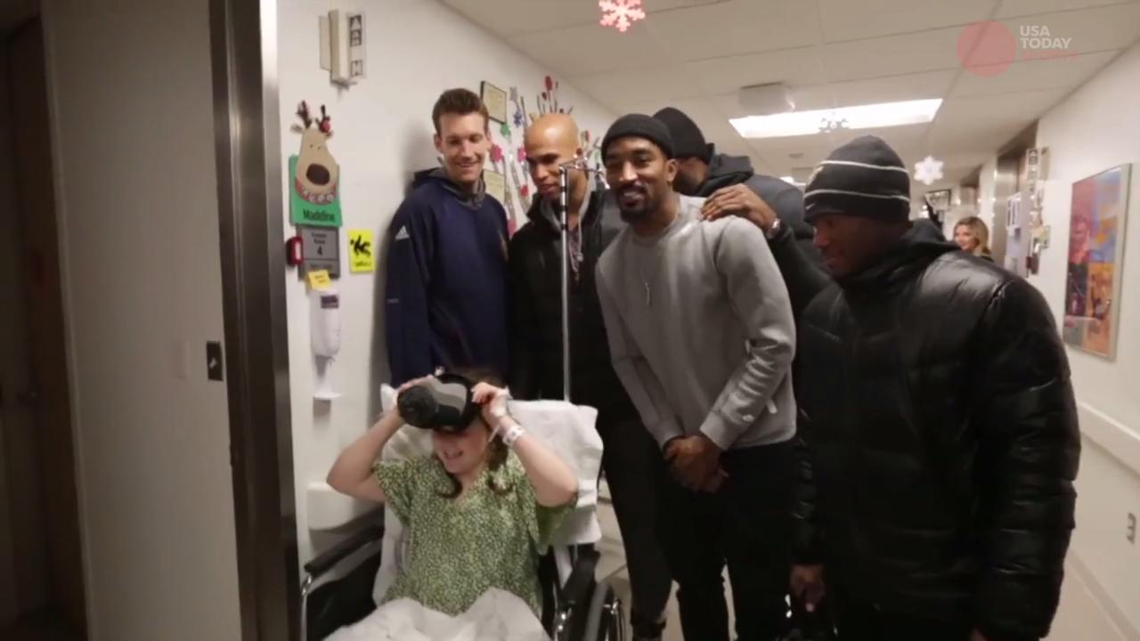 Kyrie Irving and the Cavs' visit evokes smiles