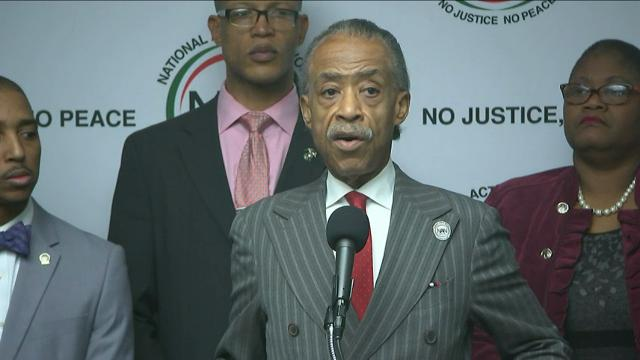 Rev. Al Sharpton, of the National Action Network, announces Monday that a coalition of groups will lead a march and rally at at the Dr. Martin Luther King Memorial in Washington a week before President-elect Donald Trump's inauguration. (Dec. 5)