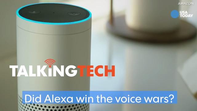 Amazon's Echo and Dot connected speakers are sold out, and 35 new products will have Alexa built-in this year. Did Alexa win over Siri, Cortana and Hey Google? Jefferson Graham reports on a #TalkingTech video.