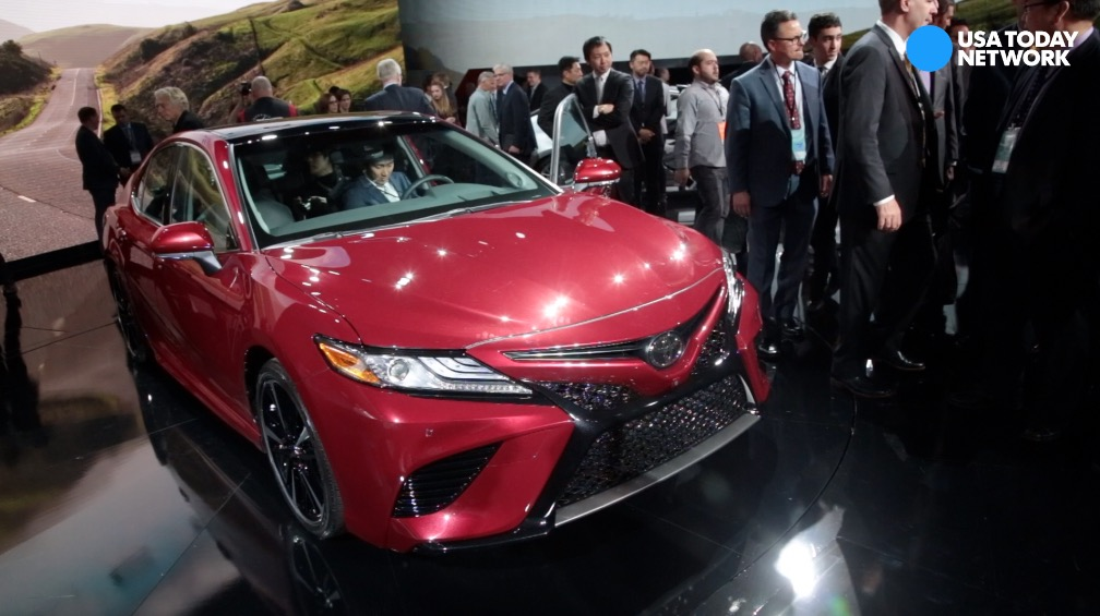 Toyota reveals the 2017 Camry XSE on Tuesday, Jan. 10, 2017 during the 2017 North American International Auto Show at Cobo Center in Detroit.