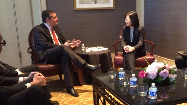 Sen. Ted Cruz said members of Congress were asked by China not to meet with President Tsai Ing-wen.