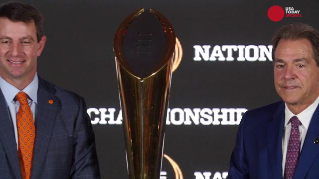 Clemson's Dabo Swinney and Alabama's Nick Saban spoke glowingly of each other at their joint press conference.