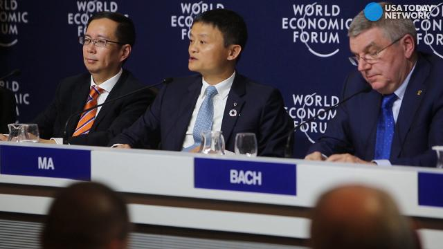Chinese billionaire Jack Ma speaks about his new partnership with the International Olympic Committee in Davos.