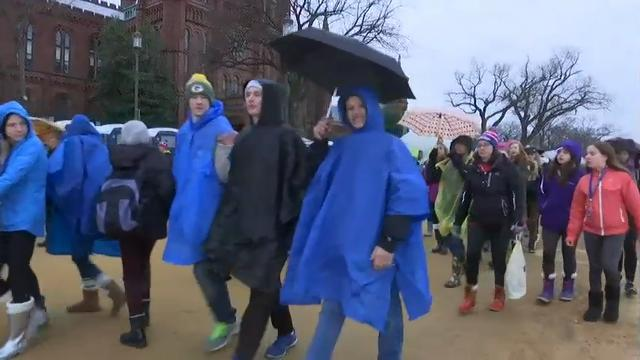Crowds Arrive on National Mall for Inauguration