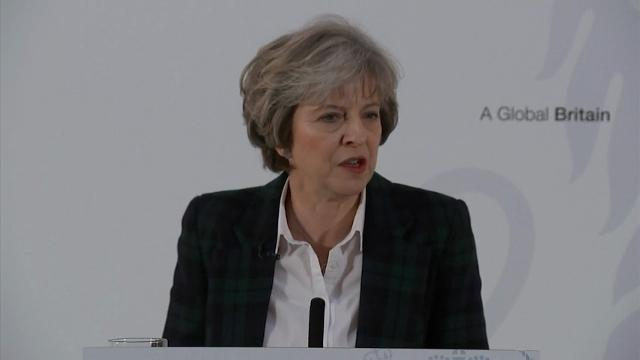 More than six months after Britain voted to leave the European Union, British Prime Minister Theresa May finally spelled out what it means: The U.K. will make a clean break from the EU and leave its single market of around 500 million people. (Jan. 17)