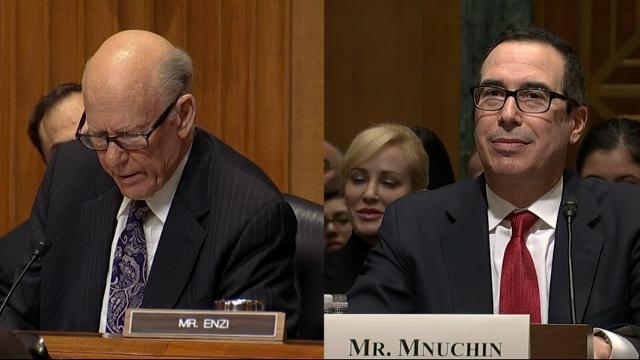 GOP Senator \u0022Offers Valium\u0022 at Mnuchin Hearing