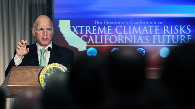 California rolled out a plan to reduce carbon emissions the same day the Trump administration vowed to cut Obama's Climate Action Plan.