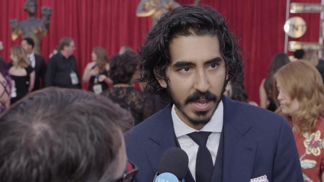 At the 2017 SAG Awards red carpet, film and television actors discusses their feelings about President Trump's ban on immigration.