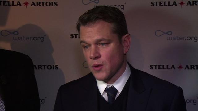 Matt Damon calls for action on clean water access