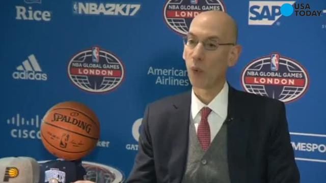Ahead of the NBA' s international double-header league commisioner Adam Silver talks about the NBA's potential around the world.