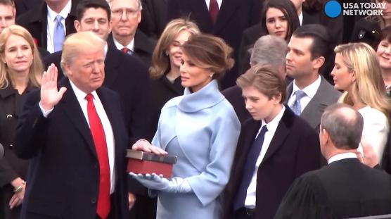 President Trump takes the oath of office