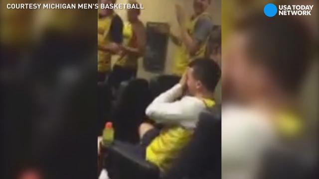 A basketball player thought he was in some serious trouble with campus police when actually he was awarded a scholarship at the University of Michigan.