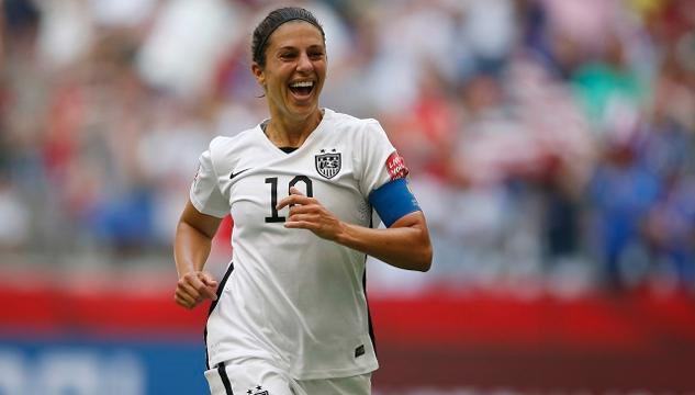 Carli Lloyd has won the top honor in women's soccer for the second consecutive year.