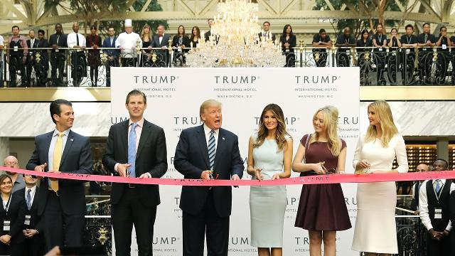 Citizens for Responsibility and Ethics in Washington is accusing Trump of letting his businesses accept payments from foreign governments. Video provided by Newsy