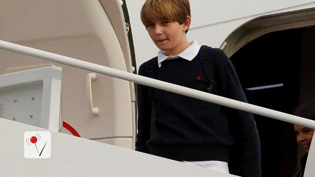 Where in the world is Barron Trump?