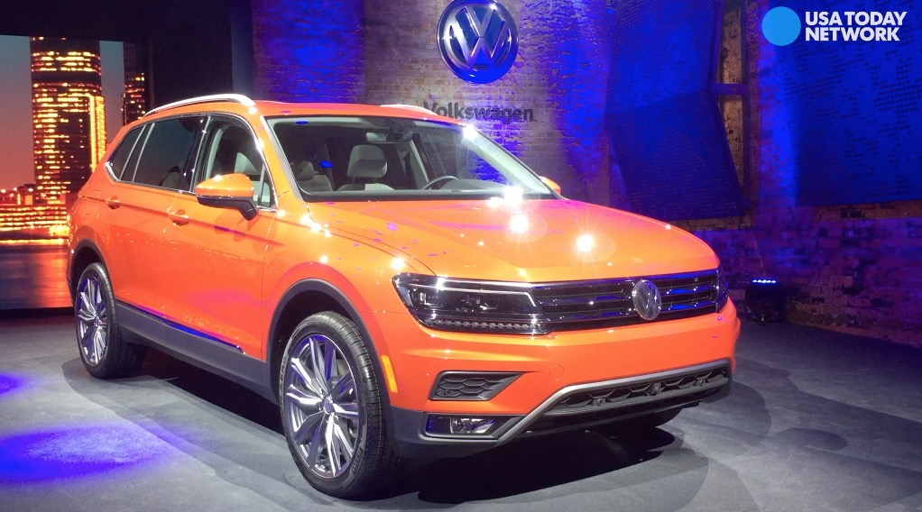 Volkswagen reveals the 2017 Tiguan Sunday, Jan. 8, 2017 during the 2017 North American International Auto Show at Cobo Center in Detroit.