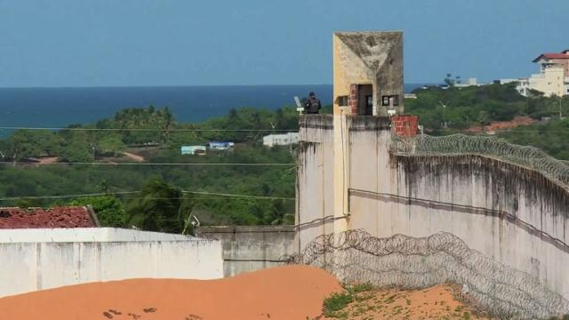 The latest in a string of brutal prison massacres involving suspected gang members in Brazil has killed 26 inmates, most of whom were beheaded, officials say. Video provided by AFP