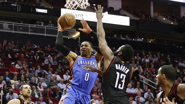 Rockets edge Thunder despite big game by Westbrook