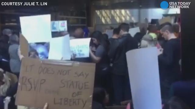 As protests rage over travel ban, families snared still in shock