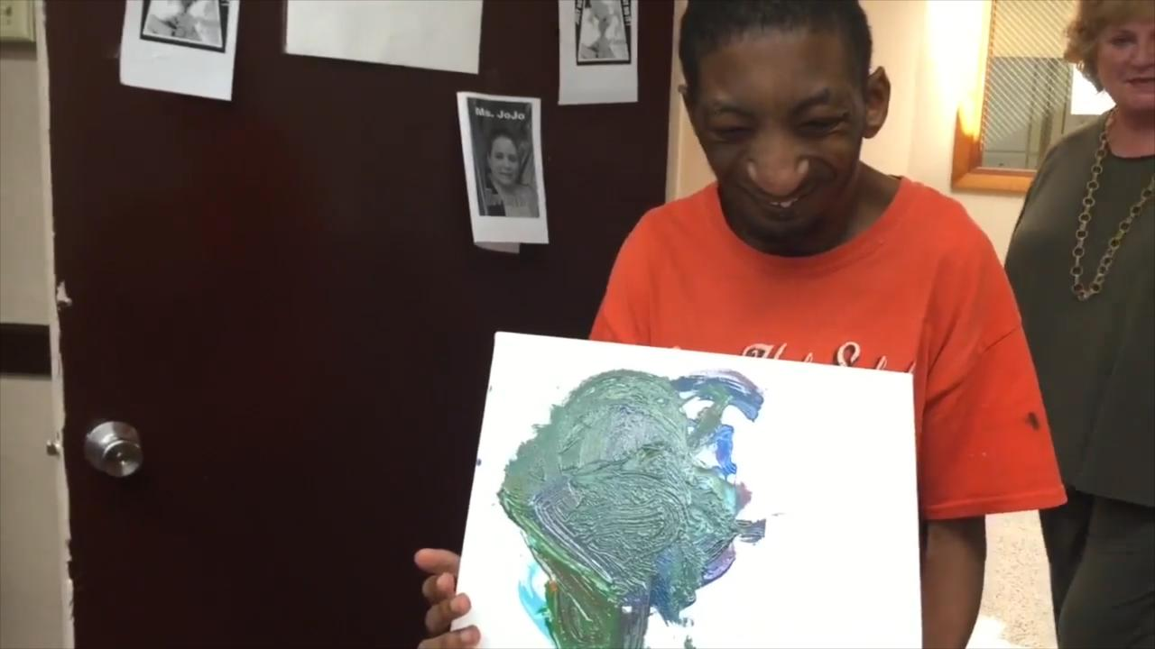 Every artist in this class has a disability, but their art focuses on their capabilities.